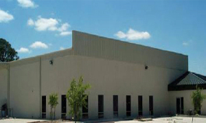 autoclaved aerated concrete warehouse building.