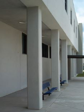 autoclaved aerated concrete school complex.